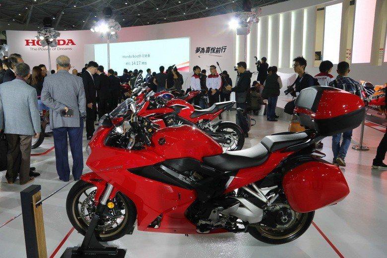 二輪也是這次Honda Taiwan展出重點。 史榮恩