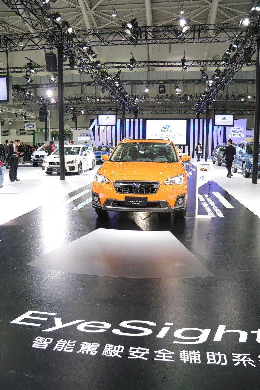 EYESIGHT智能駕駛安全輔助系統是SUBARU此次車展的主要訴求。 史榮恩