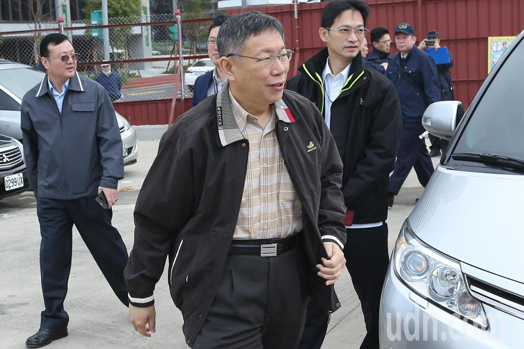 台北市長柯文哲上午出席北投奇岩長青樂活大樓動土儀式。記者林伯東/攝影