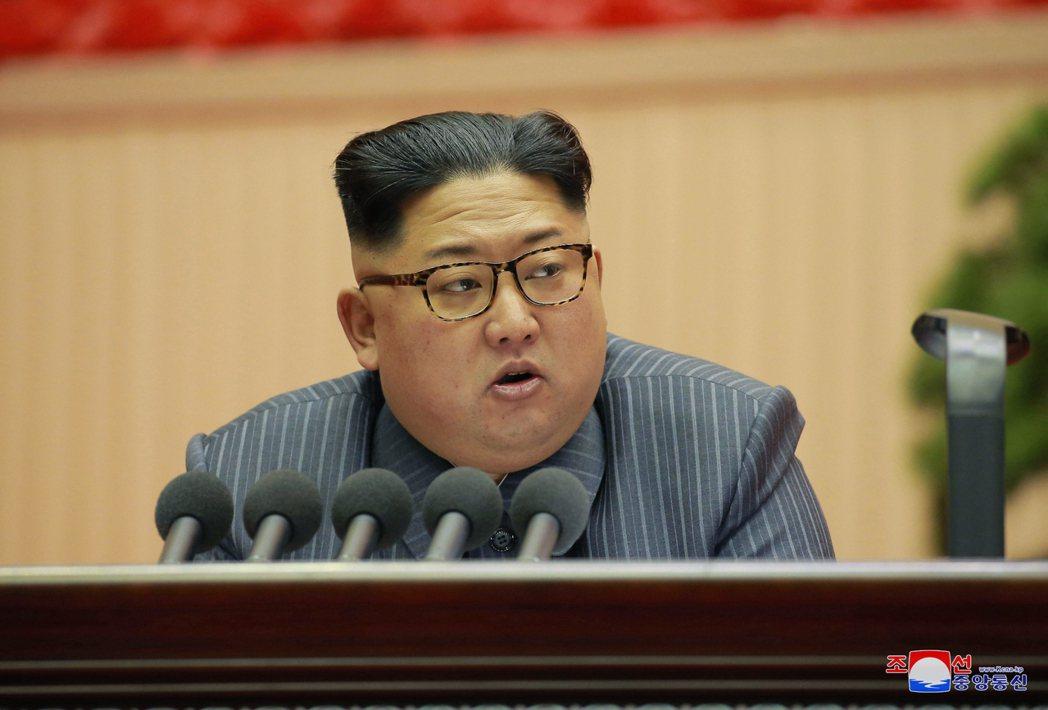 北韓最高領袖金正恩。美聯社