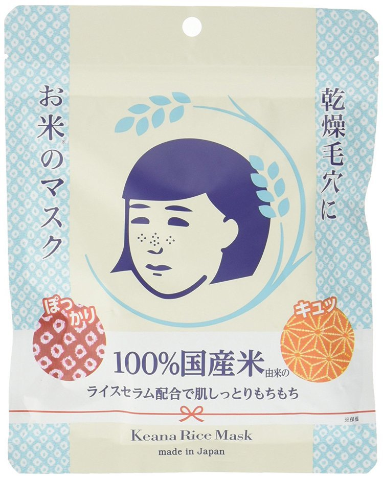 石澤研究所-毛穴撫子日本米精華保濕面膜。圖/台隆手創館提供