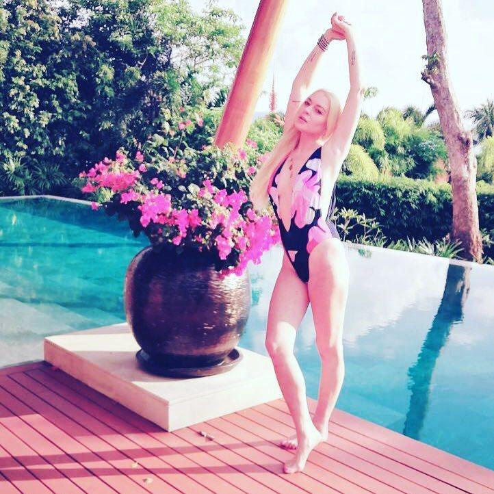 琳賽蘿涵選擇到陽光明媚的普吉島度假。圖/摘自Instagram