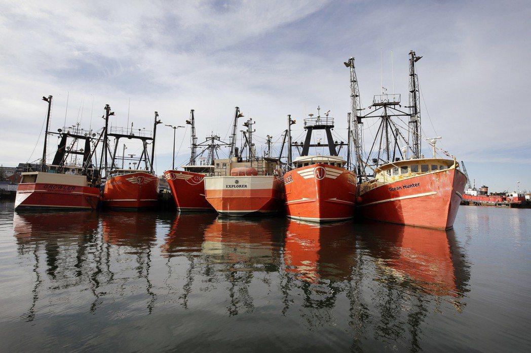 停泊於新貝德福德的漁船,該市一度是捕鯨之都。 (美聯社)
