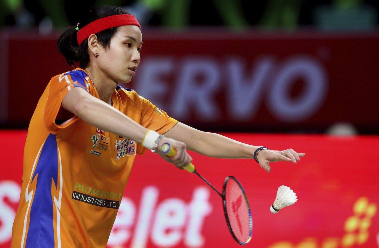 印度羽球超級聯賽,戴資穎直落二擊敗印度年輕選手菈吉。 美聯社