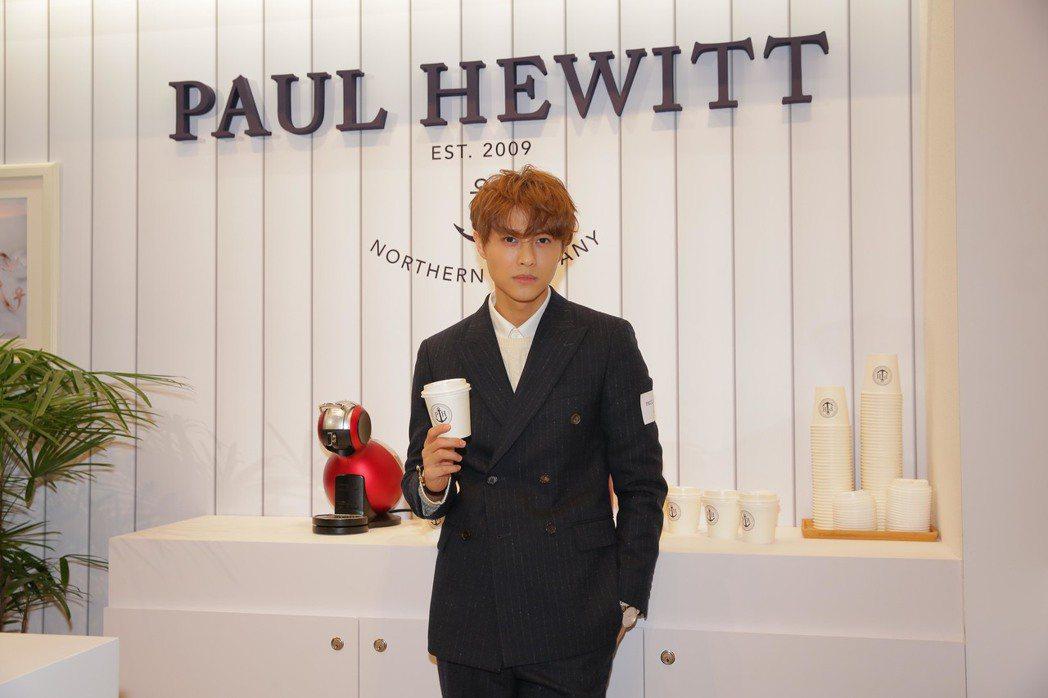 王子出席時尚品牌Paul Hewitt活動。圖/華研國際提供