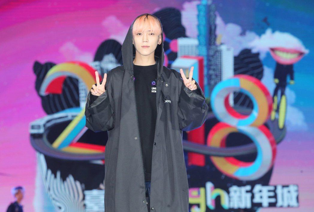 畢書盡為台北跨年在市府舞台彩排。記者徐兆玄/攝影