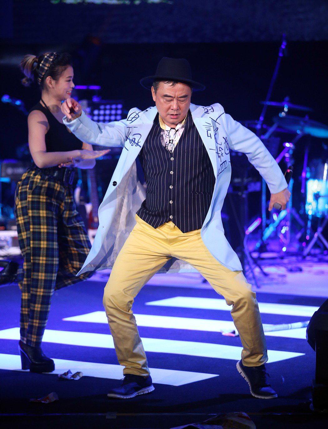 陳昇舉辦第24個跨年「說故事的自由人」演唱會。聯合報系資料照/記者陳瑞源攝