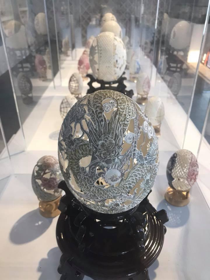以精緻蛋雕為主題的蛋雕藝術館。圖/摘自2017淡水蛋蛋嘉年華粉絲頁