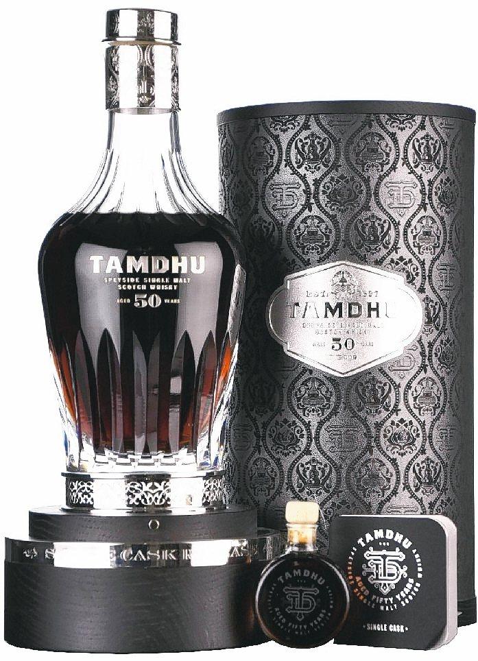 坦杜50年水晶珍稀雪莉桶蘇格蘭威士忌原酒,尊榮搭配25ml隨身瓶。 陸海洋行/提...