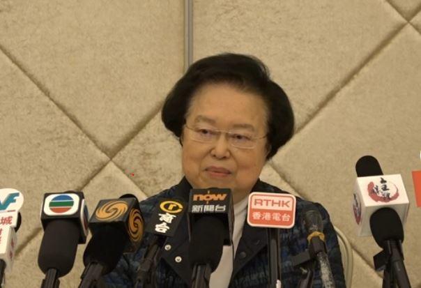 譚惠珠指人大常委會決定,性質等同法律。