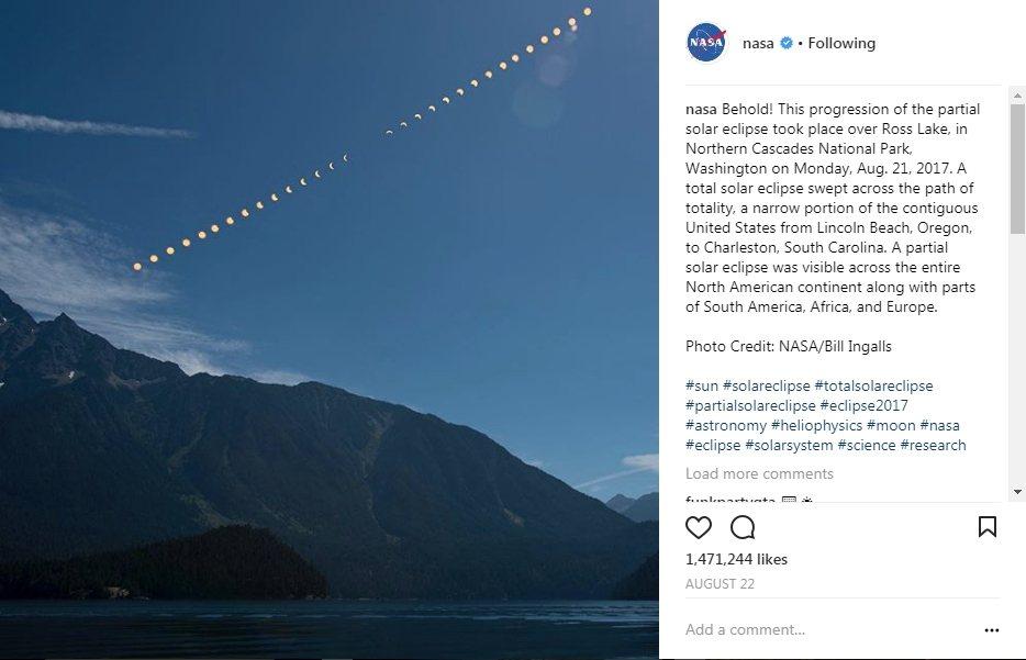 影/NASA 2017十大美照 美日全蝕奪冠