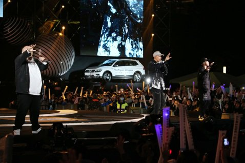 2018台北跨年晚會在台北市政府前舉行,頑童MJ116登場演出。