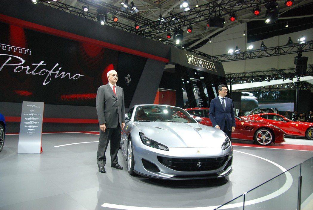 繼 California T 之後,Ferrari 於 2018 世界新車大展中帶來同樣具備實用功能、但動力性能更為熱情的 V8 渦輪 GT跑車 ⎯ Ferrari Portofino 。 記者林鼎智/攝影