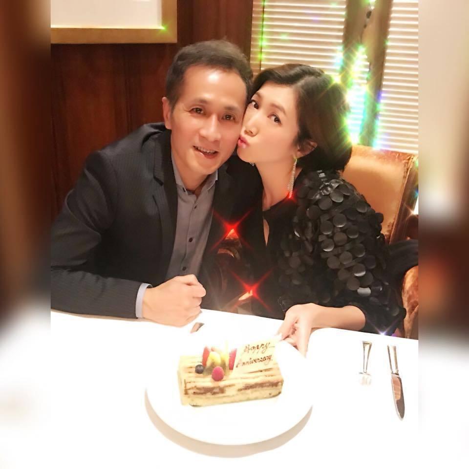 廖家儀日前和老公度過結婚8周年紀念,感謝老公一路的包容。圖/摘自臉書