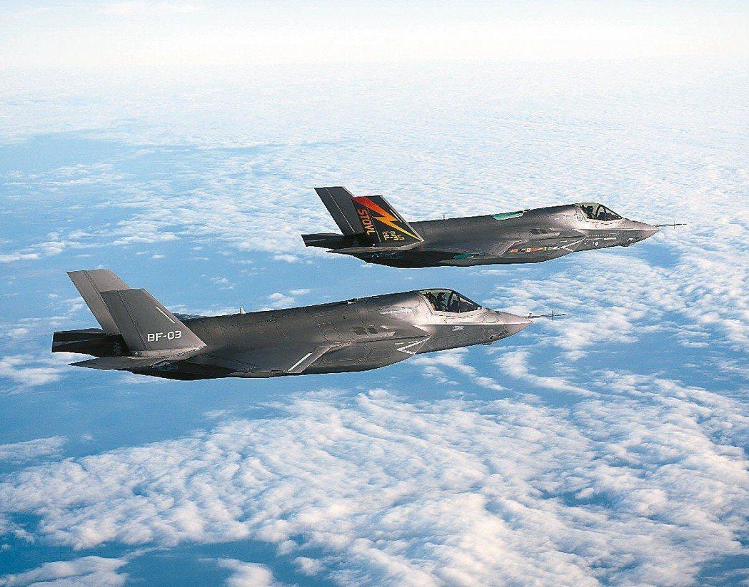 F-35閃電二式戰鬥機,是下一代美國空軍、海軍、陸戰隊的通用機種。 圖/洛克希德...