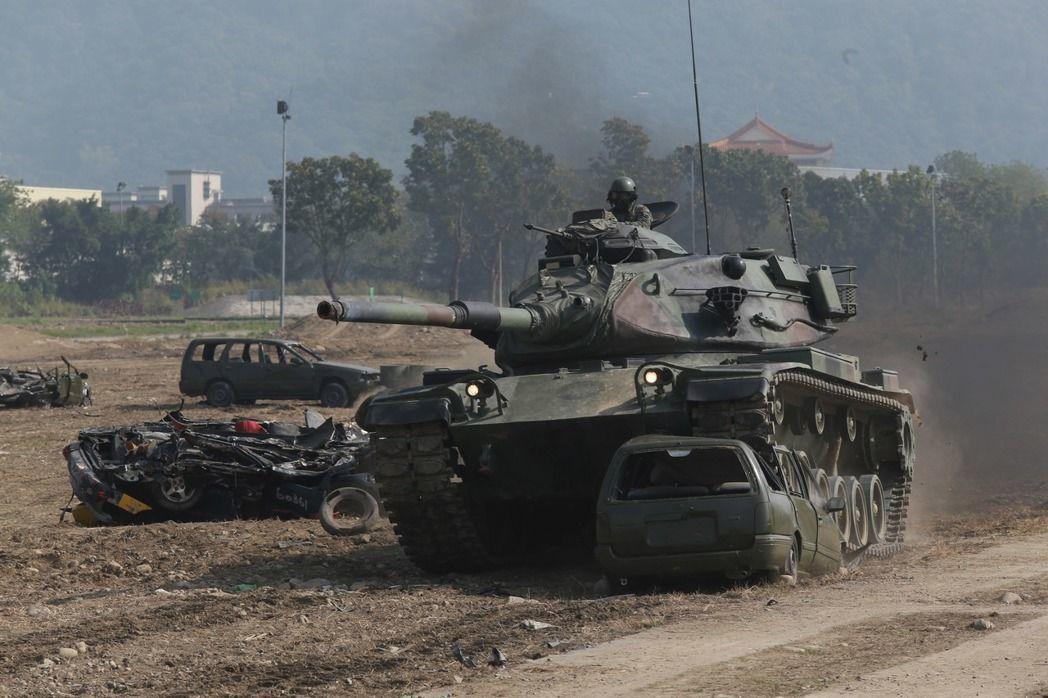陸軍M60A3戰車。 圖/聯合報系資料照片