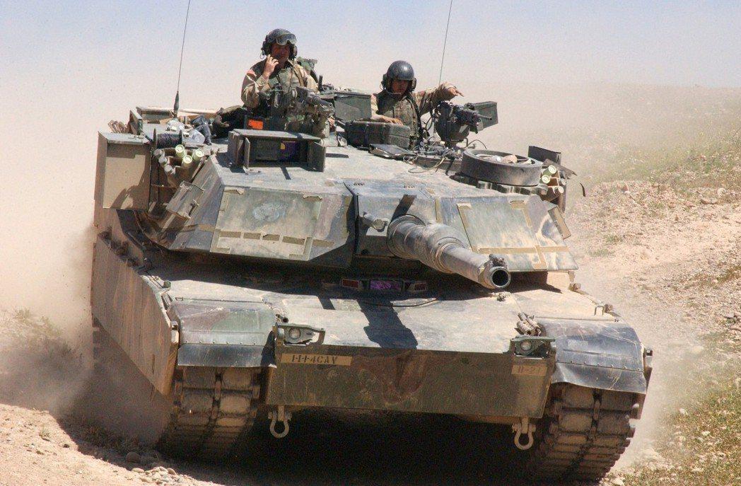 美軍在伊拉克與阿富汗戰爭使用的M1A1戰車。 圖/美國陸軍官方網站