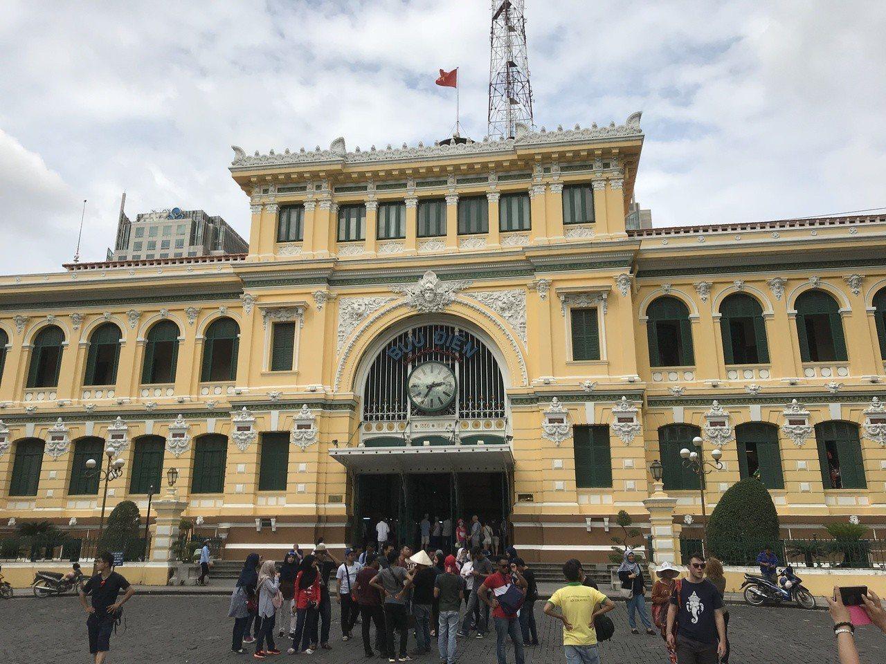胡志明市中央郵局。 記者黃日暉/攝影
