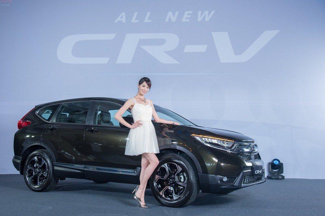 HONDA CR-V堪稱是2017年話題度最高的車款。 圖/台灣本田提供