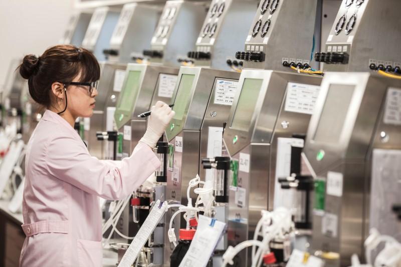 南韓2018年將投入3490韓元(近台幣105億元)開發生技產業。圖為三星旗下生...