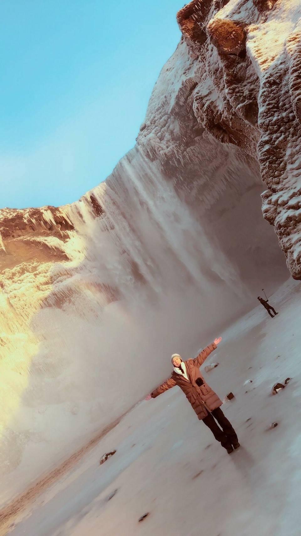 李相林日前到冰島旅遊。圖/多大傳媒提供