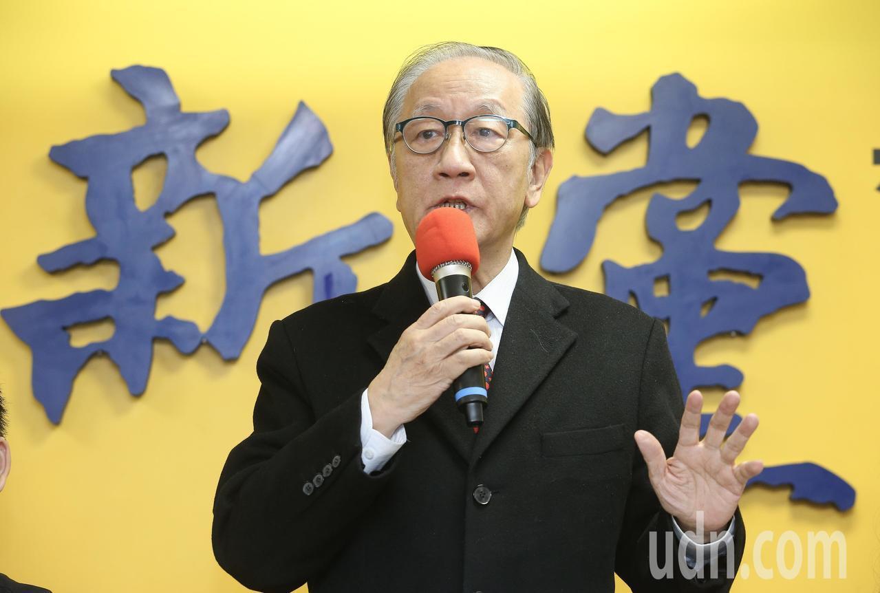 新黨主席郁慕明。聯合報系資料照片/記者余承翰攝影