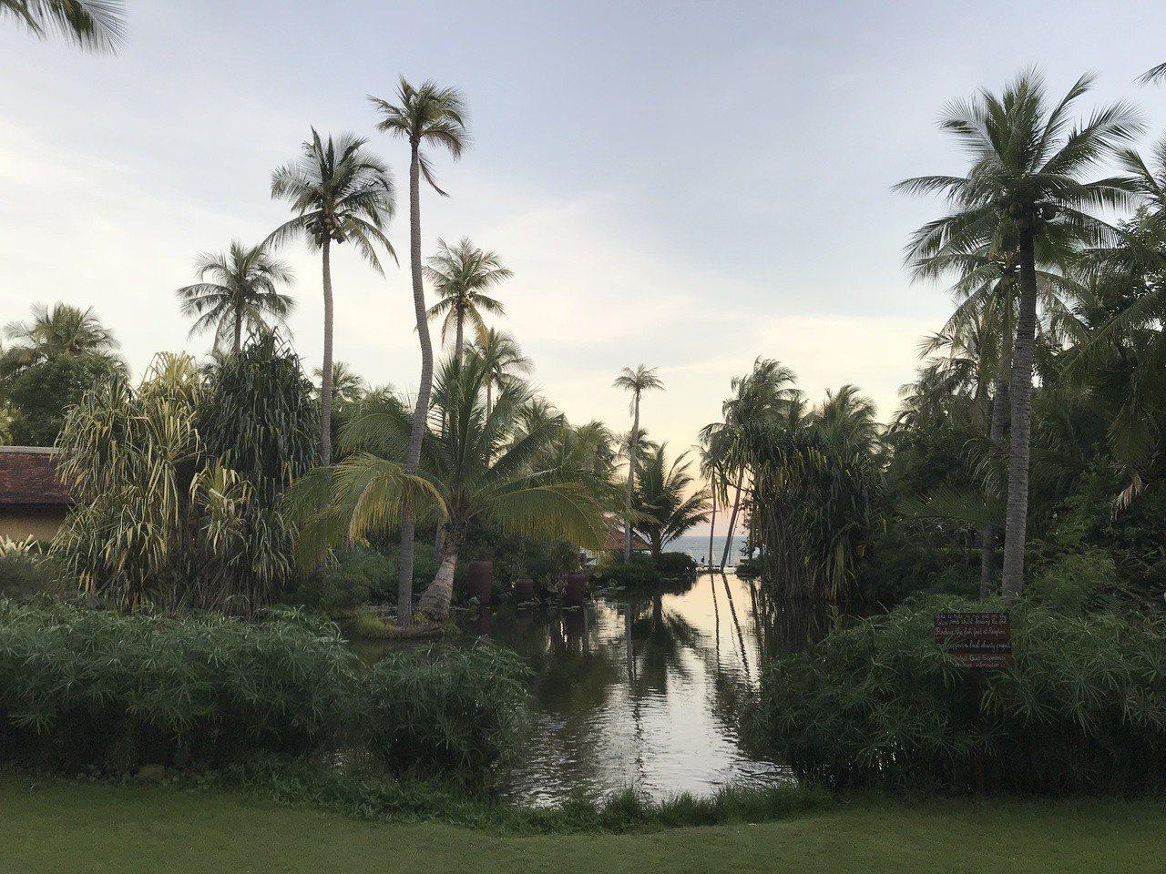 Anantara Resort度假酒店內部景緻 。記者黃日暉/攝影