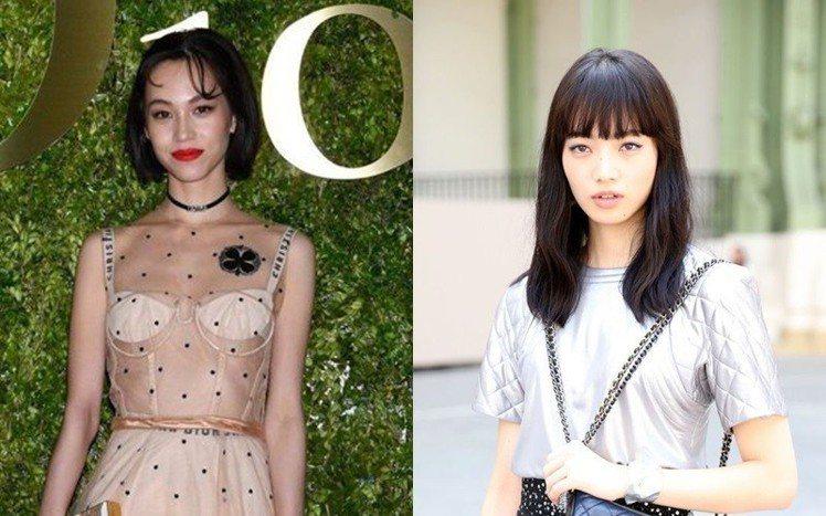 水原希子(左)、小松菜奈。圖/Dior提供;香奈兒提供