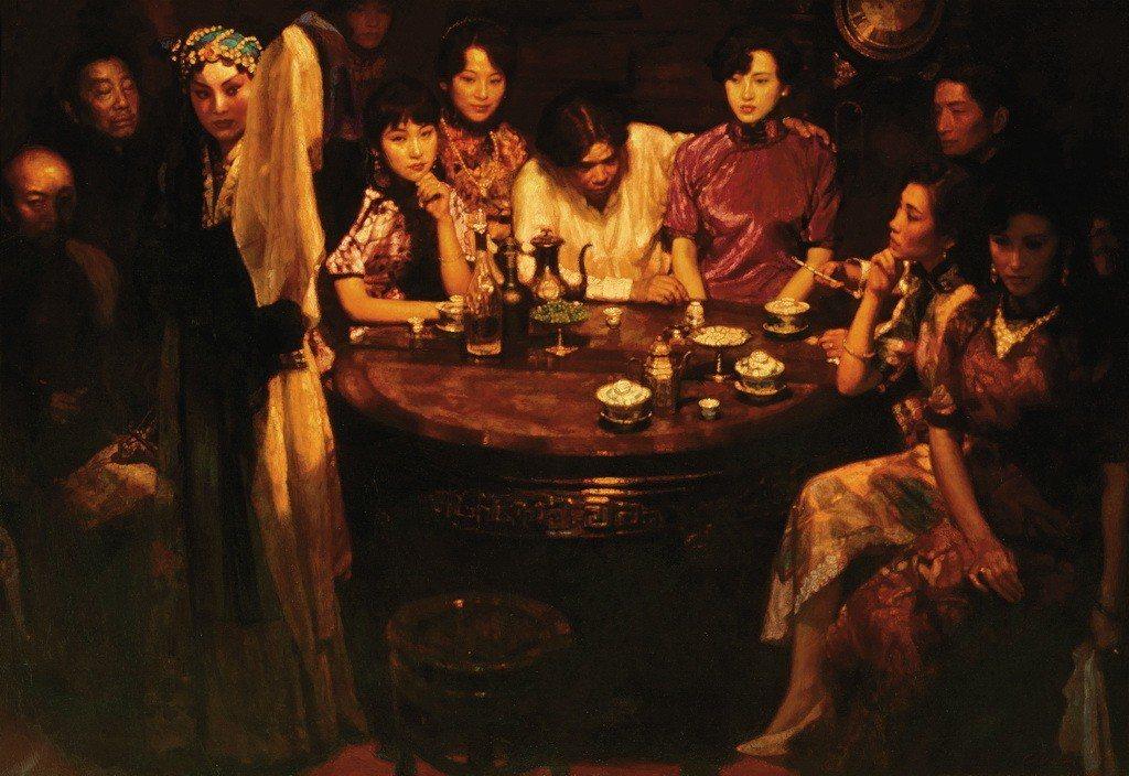 陳逸飛 玉堂春暖 布面油畫 169.5 × 243.5 cm 1993 GD 中...