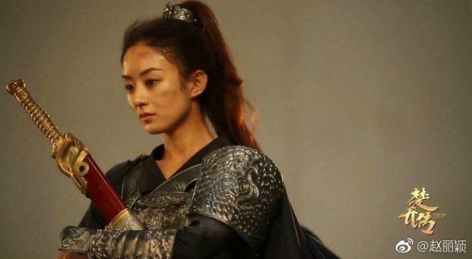 趙麗穎主演「楚喬傳」。圖/摘自微博