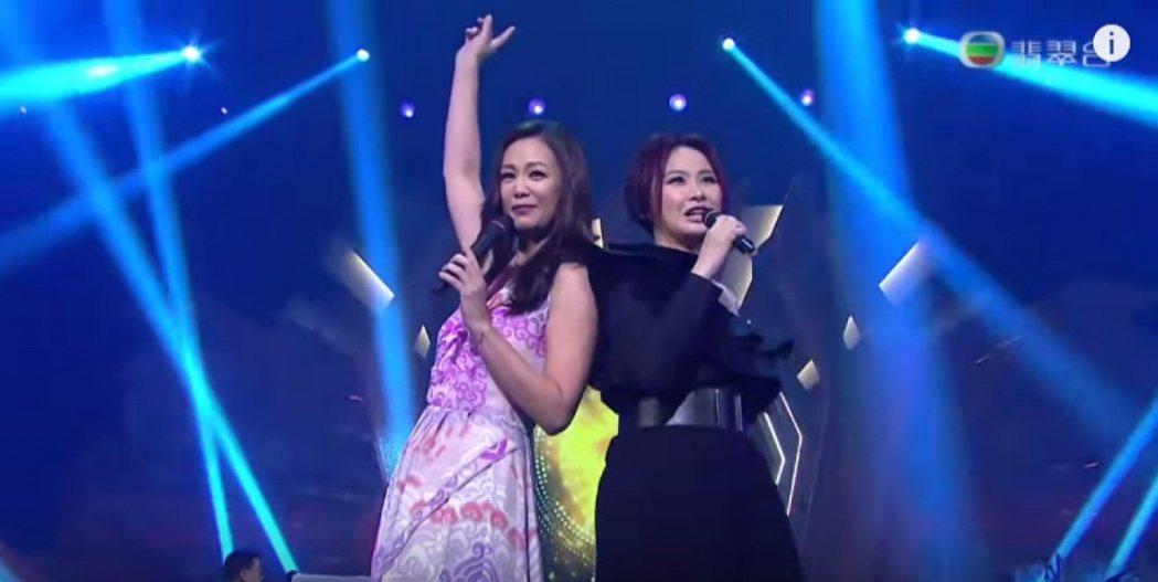 王馨平、湯寶如去年在TVB節目重唱「美少女戰士」,粉絲相當感動。圖/翻攝自 Yo...