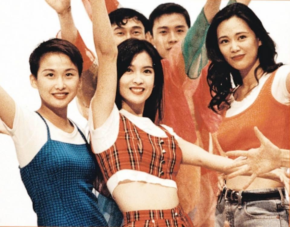 23年前「美少女戰士」初代粵語主題曲,由湯寶如(左起)、周慧敏、王馨平合唱,在小