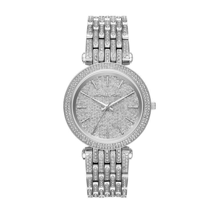 Michael Kors Darci系列密鑲水晶腕表,約20,300元。圖/Fo...