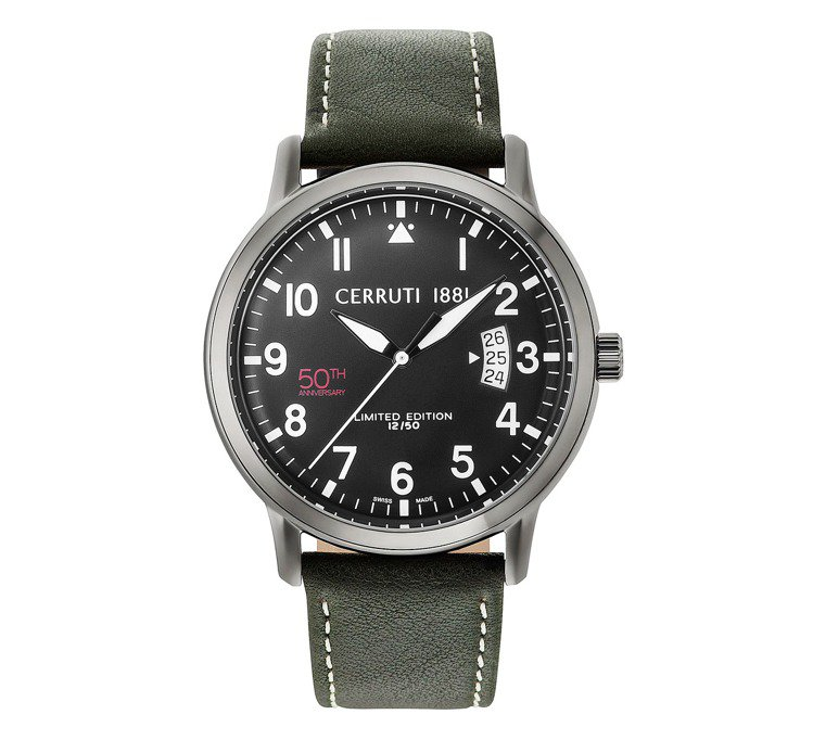 Cerruti 1881 50周年紀念款限量腕表,約20,400元。圖/Cerr...