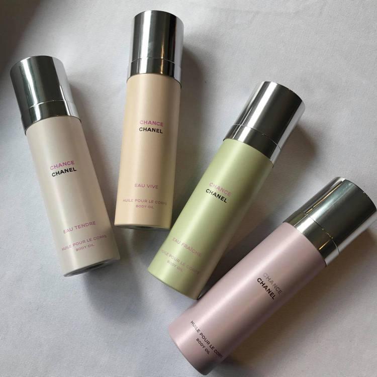 香奈兒CHANCE身體精油系列共有4種香調。圖/記者陳立儀攝影