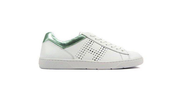 HOGAN H327 開心果綠異材質拼接休閒鞋,12,500元。圖/迪生提供