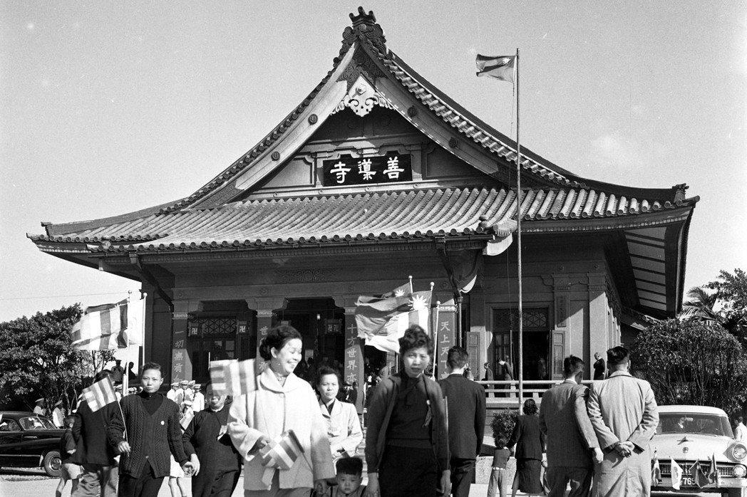 善導寺,陳明輝攝於1955年。 圖/聯合報系資料照