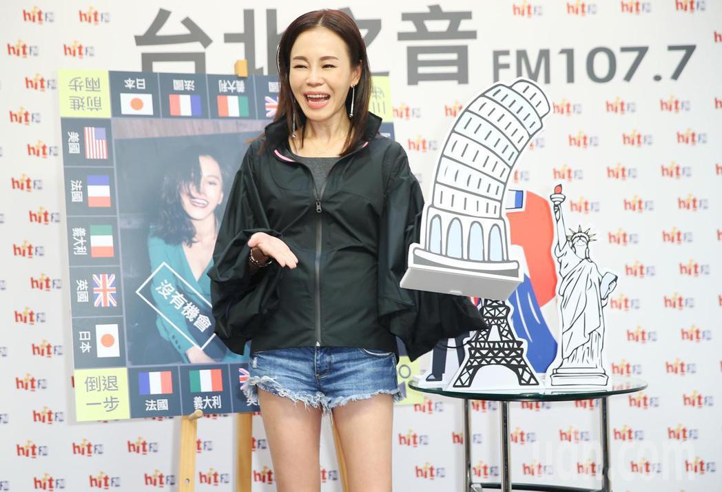 金曲歌后彭佳慧出席電台活動。記者陳正興/攝影