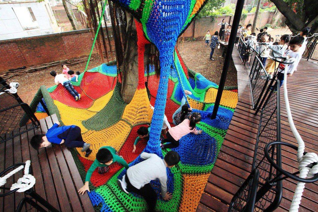 小朋友在新的戶外空間快樂玩耍。圖/陳宣誠提供、劉森湧攝影