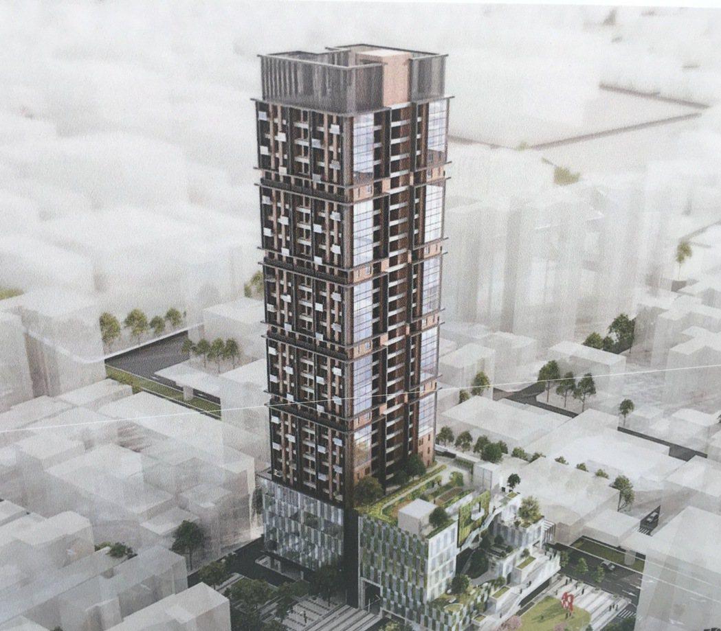 「大安區捷運科技大樓站瑞安段」公辦都更案,未來將興建地下5層、地上34層的住商混...