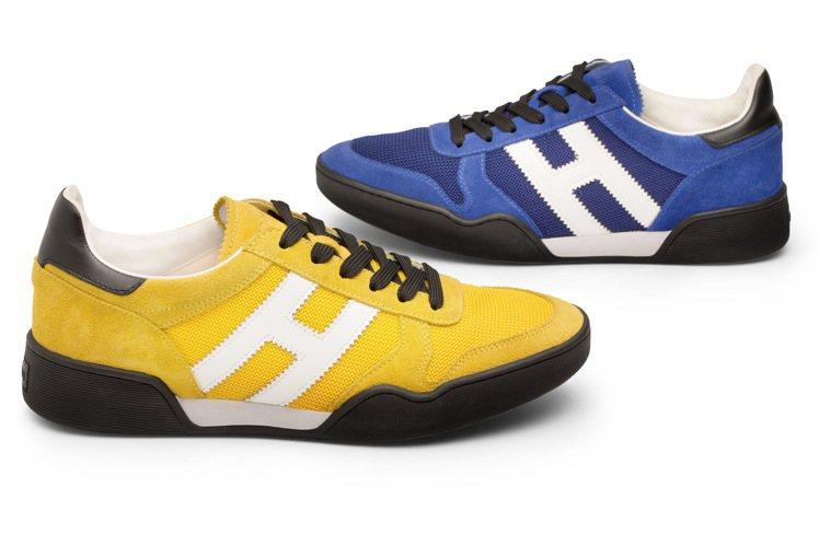 男鞋款精選頂級皮革拼接打造的全新H357系列,則是以鮮豔色混搭大地色帶出復古率性...