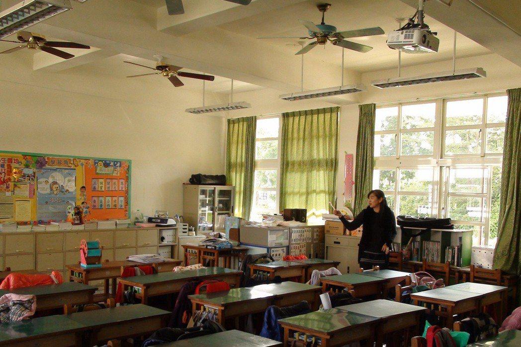 儘管我國夏季炎熱,仍有許多學校因擔心付不出電費未安裝冷氣。 圖/聯合報系資料照片