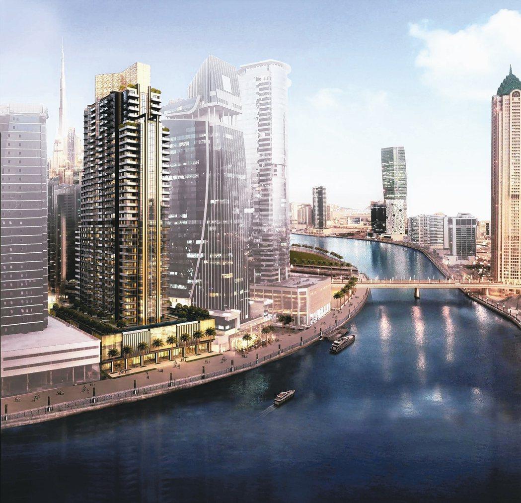 首度以Roberto Cavalli為名打造的金色豪宅,將於杜拜開工。 圖/Ro...