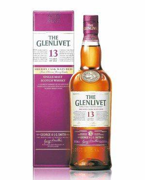 格蘭利威13年雪莉桶單一麥芽蘇格蘭威士忌。 圖/保樂力加提供
