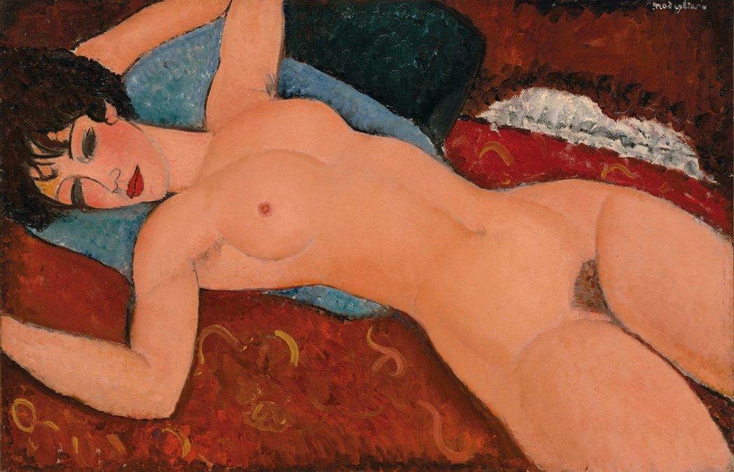莫迪里亞尼的裸女,成交價1.7億美元,由上海龍美術館劉益謙與王薇夫婦收藏。 圖/...