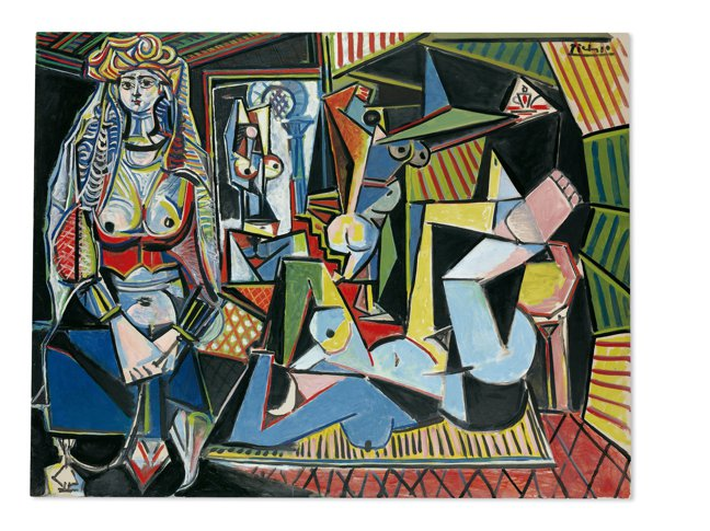 畢卡索「阿爾及利亞女人0版本」1.7億美金,是目前拍賣第二高紀錄。 圖/紐約佳士...