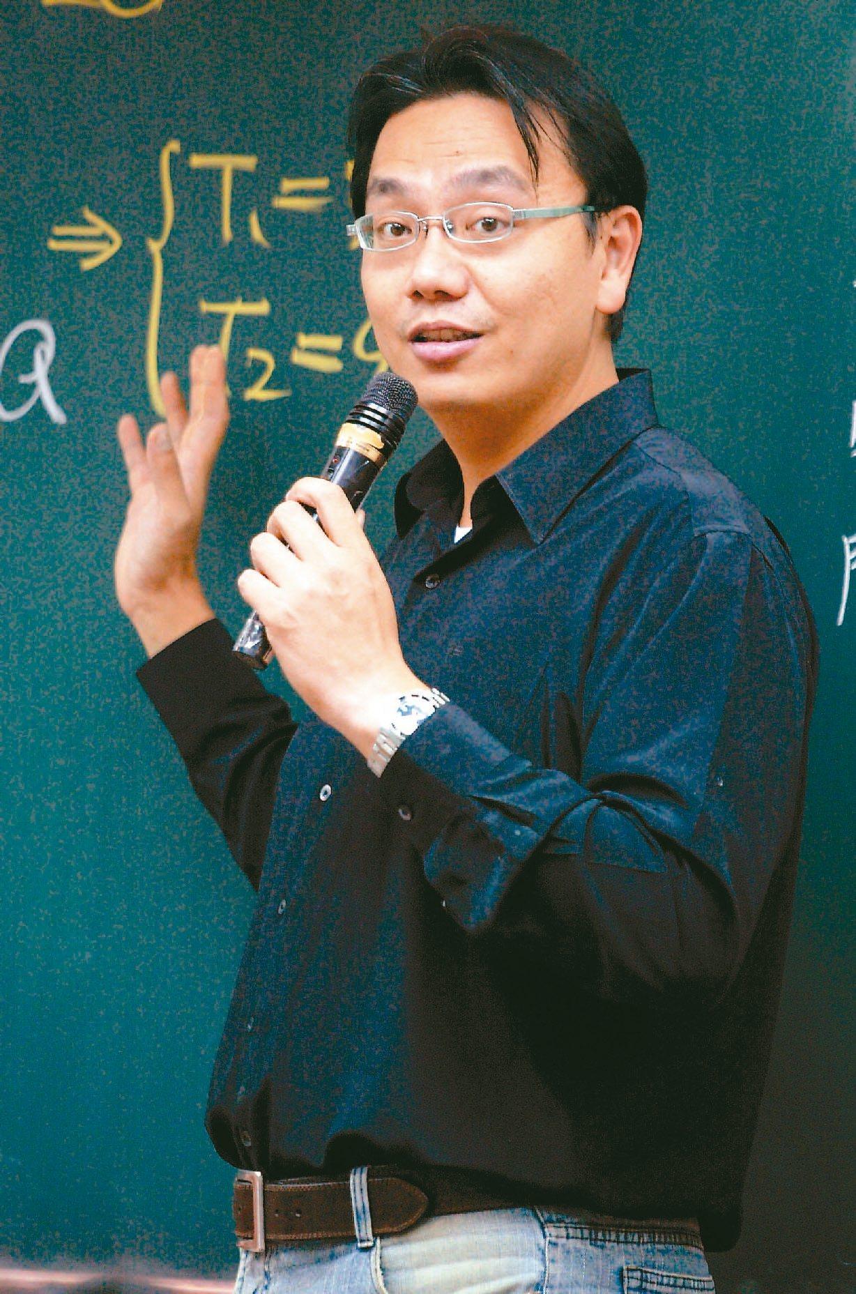 三貝德總經理魏宏泰是補教界「物理天王」。 報系資料照