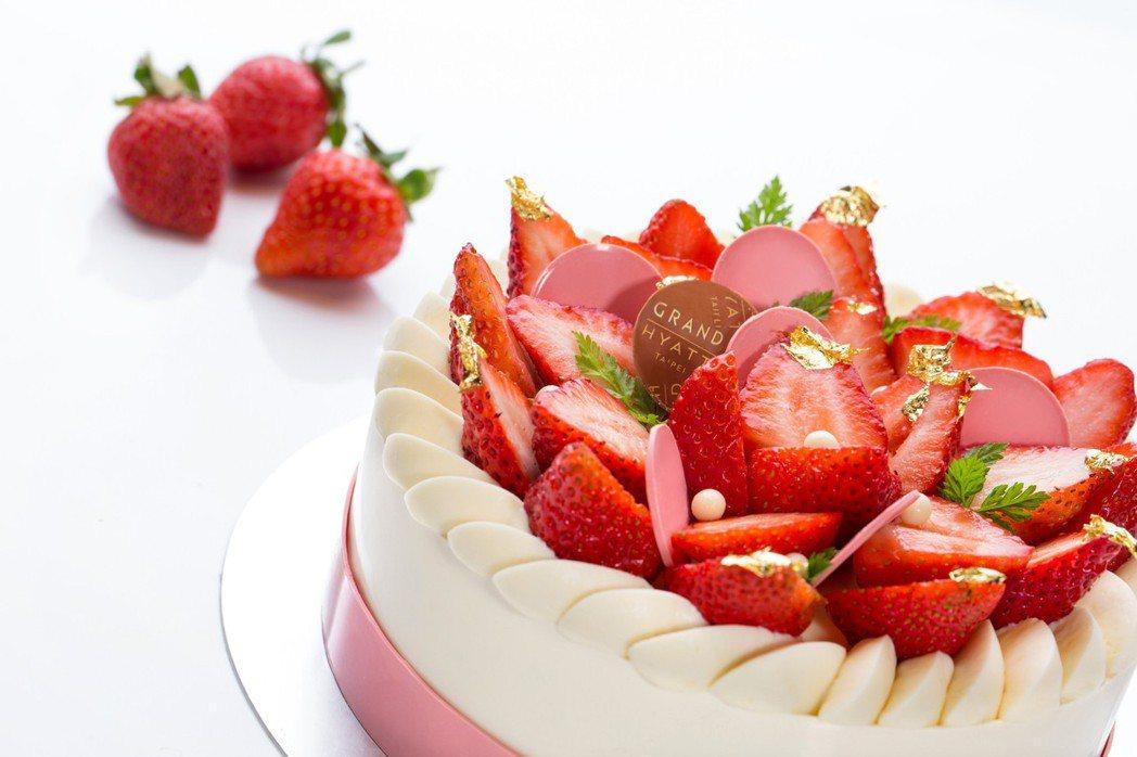台北君悅酒店草莓季 草莓起司蛋糕。