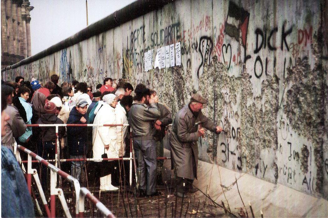 柏林圍牆,1989年。 圖/維基共享