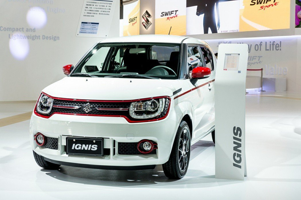 增添紅色飾條與小型尾翼的IGNIS特仕版車型外型相當亮眼。 TAIWAN SUZUKI 提供
